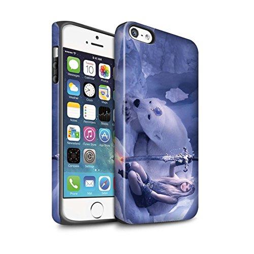 Officiel Elena Dudina Coque / Matte Robuste Antichoc Etui pour Apple iPhone 5/5S / Pack 9pcs Design / Super Héroïne Collection Reine des Glaces