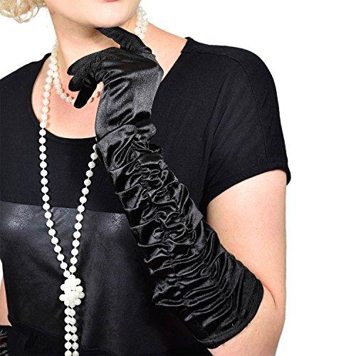 e Handschuhe lange Retro Handschuhe für Burlesque Kostüm Kleid Outfit Accessoire (Authentische Burlesque Kostüme)