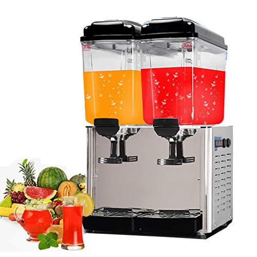 JCOCO Kommerzielle Getränkemaschine - Edelstahl - Heißer und kalter Cafeteria-Trinker - Geeignet für Fruchtsaftkaffee -18L × 2 (cafeteria)
