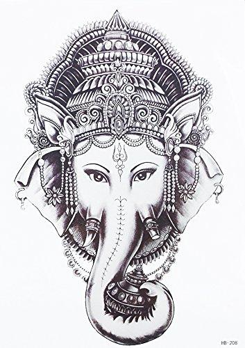 TATTOO Temporär Arm Oberarm Tattoo Aufkleber Thai Elefant für Körper HB208 -