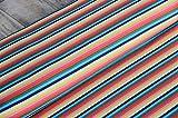 Baumwoll Jersey Streifen Kombistoff gestreift Regenbogen bunt *** 50 cm x VB ***
