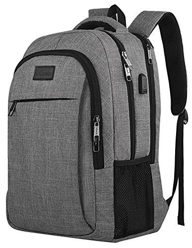 4d7453ecfbc1 Viajes de Negocios Mochila, anti robo portátiles bolsa con cierre, USB  puerto de carga para las mujeres y hombres, ordenador de compartimento  ajuste ...