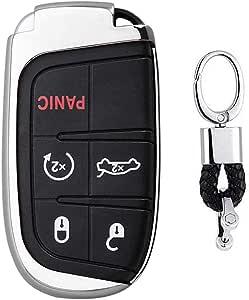 Silber Car Keyless Entry Key Cover Fall Für Jeep Grand Elektronik