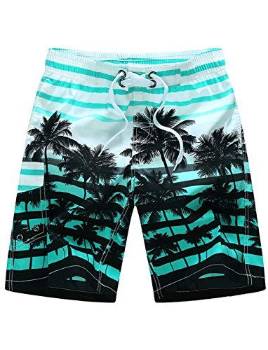 Adorel pantaloncini da bagno shorts da spiaggia per uomo palma verde 3xl