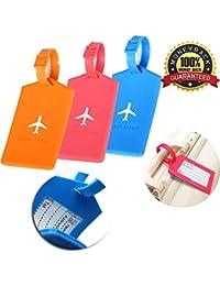 Etiquetas de equipaje Etiquetas de equipaje 2Pcs Etiquetas de equipaje de avión de avión de silicona Etiquetas para maletas de viaje de equipaje
