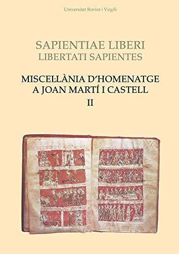 Miscel·lània d'homenatge a Joan Martí i Castell (II) (Universitat Rovira i Virgili)