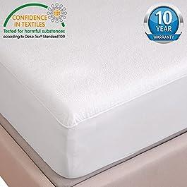 HYSENM Matratzenschutz Spannbettlaken Baumwolle luxus 100% wasserdicht raschelt NICHT allergikergeeignet robust für 5-35cm Matratze verschiedene Größen 10 Jahre Garantie, 180x190/200
