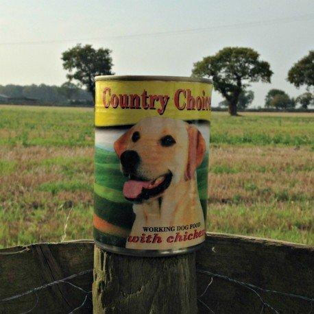 Country choice value scatoletta di cibo bagnato per cani, al pollo, completo (24x 400g)