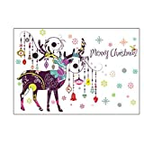 ZhenFa Weihnachten Farbe REH Wandsticker lebenden Hostel Schlafsofa Weihnachten abnehmbare Hintergrund dekorative Wand-Sticker