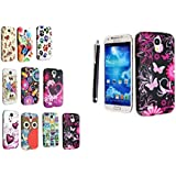 GR8VALUE SAMSUNG GALAXY S4 I9500 I9503 I9506 SILICONE GEL PROTECTION CASE SKIN COVER + STYLUS