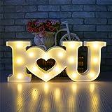 Amor Luces, Funpa 3D Firmar Creativo Amo a U Corazón Amor LED Luz de Noche de Decoración de Cartelería Palabra Decorativa Love