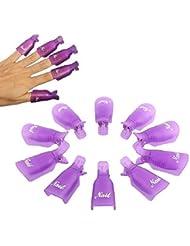 Malloom® 10pc Plastique Nail Art Tremper Le Capuchon De Clip Gel uv Outil De Pellicule De Vernis à Ongles