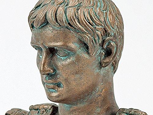 Augustus Kaiser Büste Prima Porta - Bronze patiniert - aus Alabastergips gefertigt - Forum Traiani - Dekoration - echte Handarbeit