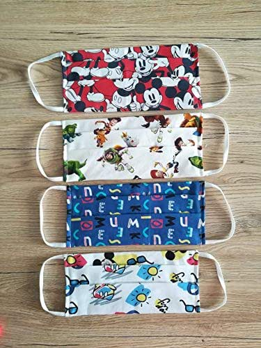 Tina Codazzo Baby Mascherine artigianali in cotone per bambini 4 pz TS