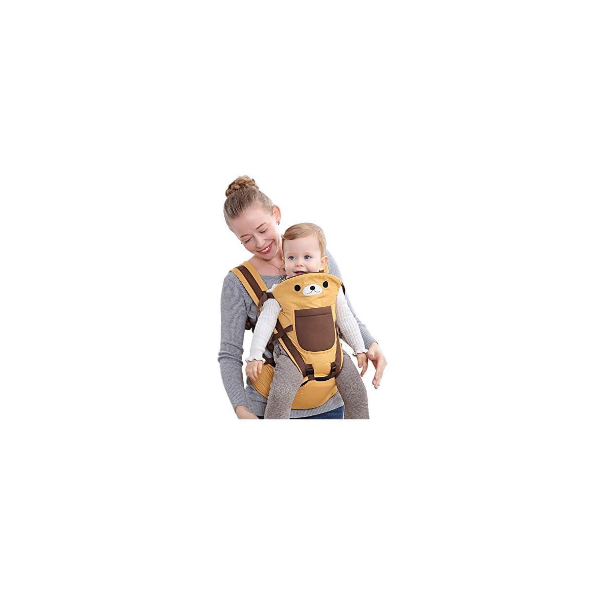 51gHNe8Np7L. SS1200  - Happy Cherry - Portabebés Ergonómicas con Asiento de Cadera Cintura Ajustable para Bebés Recien Nacido 0-36 Meses Multifuncional