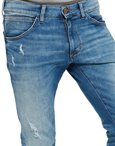 Wrangler Herren Skinny Jeans Bryson Blau (Light Glory 30)