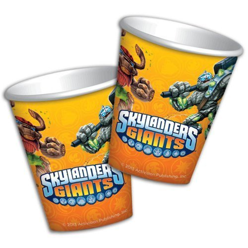 8 gobelets en carton Skylanders Giants - 260ml