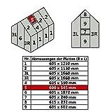 Hohlkammerplatte für Gewächshaus 4,75m² Gartenhaus Treibhaus (Nr. 5 (600 x 545 mm))