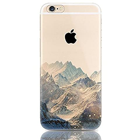 AAABest Coque iPhone SE Coque ,Iphone 5s Coque , AAABest Coque iPhone SE/5S/5 Transparente Cute Motif Premium TPU Souple Etui de Protection [absorbant les chocs] [Ultra mince] [Anti-rayures] pour iPhone SE/5S/5 - Mountain peak