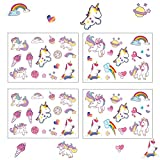Oblique Unique Einhorn Sticker I farbenfrohe Selbstklebende Aufkleber I Unicorn I Kindergeburtstag I Deko