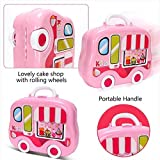 #7: Magnifico™Kitchen Set Toy for Girls with Wheel Carry Case Suitcase (26 Pink Kitchen) (Kitchen Playset Pink)