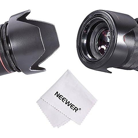 Neewer 67mm reversible Grafico Parasol de lente para Canon EOS DSLR Cámara