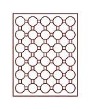 Lindner 2537 Münzenbox mit 30 runden Vertiefungen für Münzenkapseln mit Außen-Ø 37 mm-Grau / rote Einlage