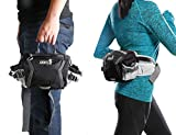 SHOWTIMEZ Gürteltasche Schwarze Wasserabeweisende Bauchtasche Hüfttasche als Daypack Taille Tasche für Morgen Laufen Reisen Wandern -