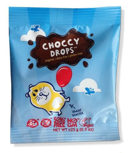 Organic Dairy Free Chocolate Drops – Milk Tasting – Moo Free 25g