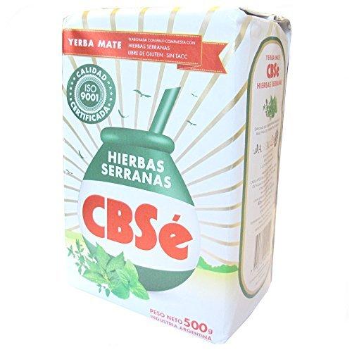 Yerba Mate CBSé, es un té Mate Argentino de 500g. El té CBSé Mate es el primer té de Argentina. Es una combinación deliciosa y refrescante del té de mate y una selección de hierbas de montaña. Estas hierbas son: Pennyroyal (menta de Polei); Menta. Se...