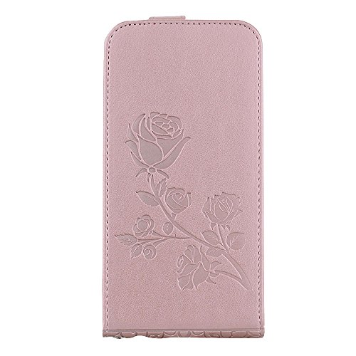 "MOONCASE iPhone 6/iPhone 6s Coque, [Embossed Pattern] Card Holster Flip Housse Durable PU Cuir Anti-choc Supports Protection Etui Cases pour iPhone 6/iPhone 6s 4.7"" Vert Rose"