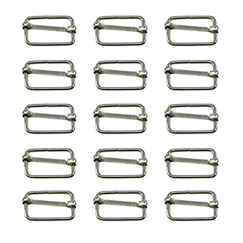 Sliding metal buckles for sliding bar, 25 mm, 25 units