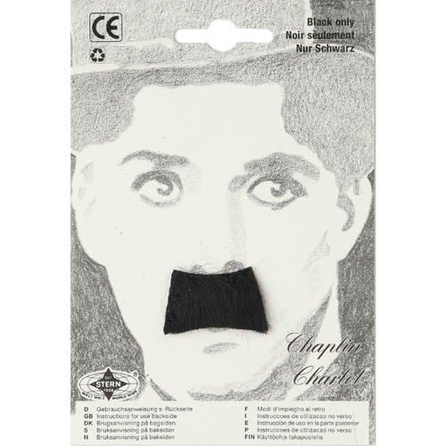Schnurrbart Chaplin, schwarz (Charlie Chaplin Kostüm Kinder)