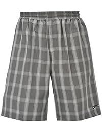 Slazenger-Short Pantalon à taille élastique intérieure filet