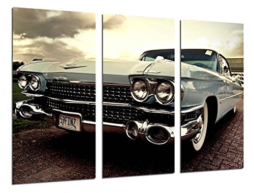 Cuadro Moderno Fotografico Coche Cadillac Antiguo, Coches Vintage, 97 x 62 cm, ref. 26443