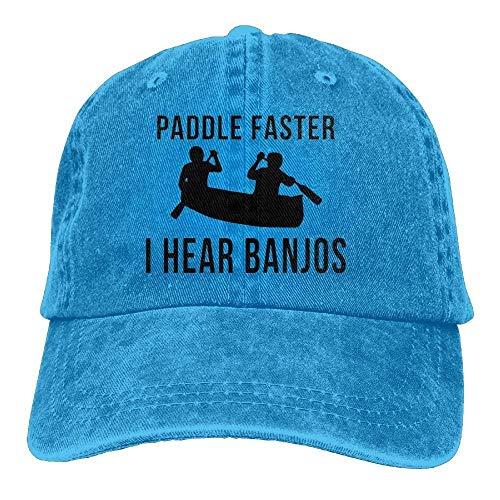 Xukmefat Paddle Faster I Hear Banjos Unisex Cotton Denim Baseball Cap Adjustable Strap Low Profile Plain Hats Natural 085 Armee-low Profile Cap
