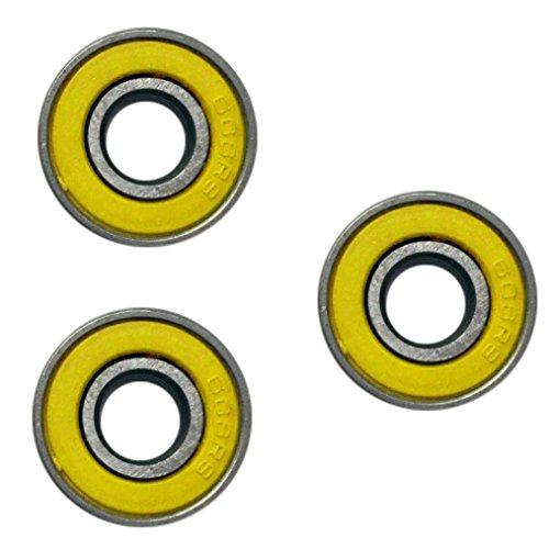 Preisvergleich Produktbild Tri Fidget Spinner Zubehör, Holeider Hybrid Kugellager Stahl Ball Tri Spinner Fidget 608 ZZ EDC Fidget Spielzeug 3PCS (Gelb)