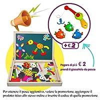 ❤Grande promozione: paga di più 2 € e ottieni il gioco di pesca aggiuntivo!❤Tieni i tuoi bambini lontani di telefonia intelligente, questo Puzzle di Legno Magnetico Lavagna è la scelta migliore! I nostri prodotti rispettano lo standard UE, se il tuo ...