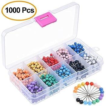 15 Farben 900 St/ück Karte Nagel Pinnadeln Karte Pinnadeln Stecknadeln Rei/ßn/ägel mit Plastikrundk/öpfen und Stahlnadelpunkten