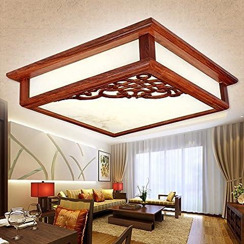 Il nuovo ristorante cinese lampadari atmosfera minimalista in legno antico barra rettangolare lampadario-A71