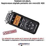 Tascam DR-05versión 2, grabadora digital portátil con MicroSD 4GB