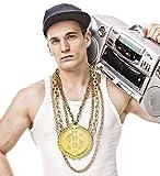 Hip Hop Rapper-Schmuck 90er Jahre Kette mit riesigem Amulett Prollschmuck Macho