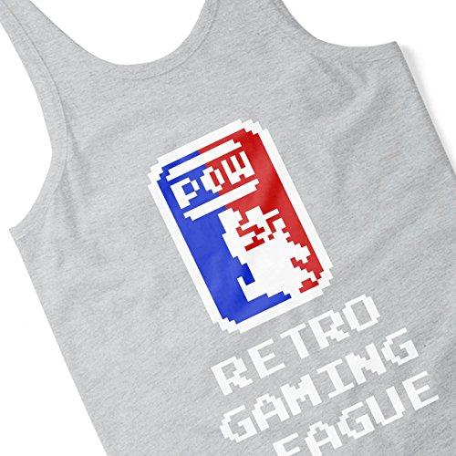 Retro Gaming League Mario Men's Vest Heather Grey