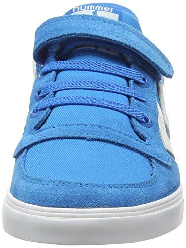 Hummel SLIMMER STADIL CANVAS LO, Sneakers basses mixte enfant Bleu - Blau (Methyl Blue 7672)
