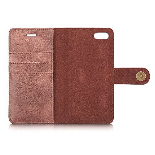 Landee iPhone 7 Hülle und Brieftasche, Abnehmbare magnetische Hülle, 2 Aufstellmöglichkeiten Leder Brieftasche Hülle für Apple iPhone 7 Geräte(7-MC-01) 7-MC-04