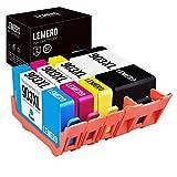 LEMERO Kompatibel Ersetzungen für HP 903 XL 903XL Druckerpatronen für HP OfficeJet Pro 6860 6868 6960 6970 6975 6978 6950 All-in-One( 4 Pack )