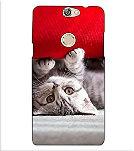 Fuson Designer Back Case Cover for Coolpad Max (A Cute Kitten Play)