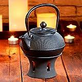 Rosenstein & Söhne Teekrug: Asiatische Teekanne mit Stövchen aus Gusseisen (Gusseiserne Teekanne) - 2