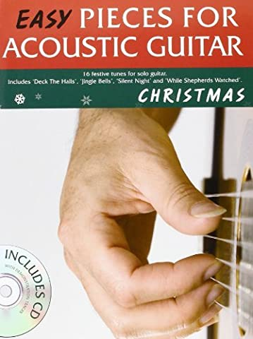 Easy Pieces For Acoustic Guitar Christmas Tab Book/Cd by Mark Currey (2009-10-05) (Christmas Guitar Tab)