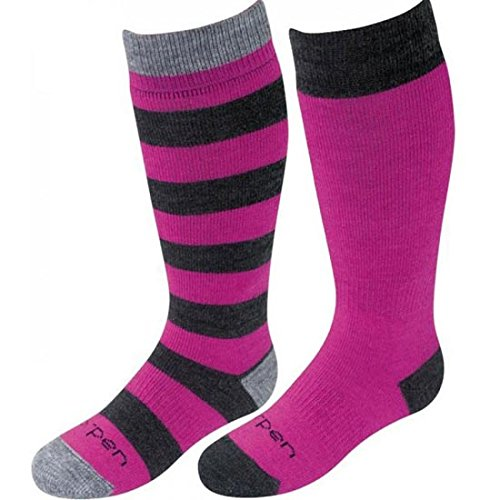 Lorpen Unisex Wandersocken TCXTM Merino Kinder Ski Socken (2er Pack) Small Fuchsia/Charcoal (Merino Ski Lorpen Socken)